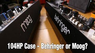 Behringer Eurorack 104 case compared to the Moog 104 case