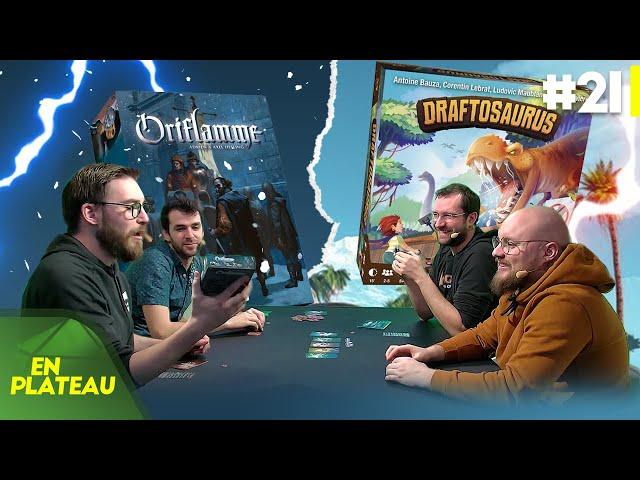 Découverte de 2 jeux nommés aux As d'Or (Oriflamme et Draftosaurus) | En Plateau #21