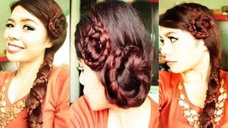 2 Braided Christmas Party Holiday Hairstyles 2012- Collab with Angkikayko
