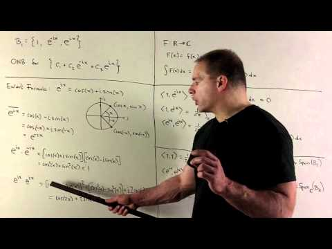 Fourier Series: Example of Orthonormal Set of Functions