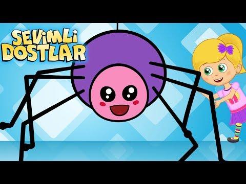 Minik Bir Örümcek - Sevimli Dostlar çizgi film çocuk şarkıları 2017 - Adisebaba TV Bebek Şarkıları