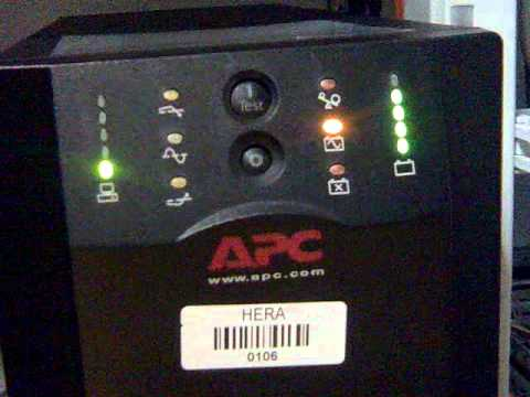 apc smart ups 1500 on battery operation youtube rh youtube com apc ups user manual pdf apc 3000 smart ups user manual