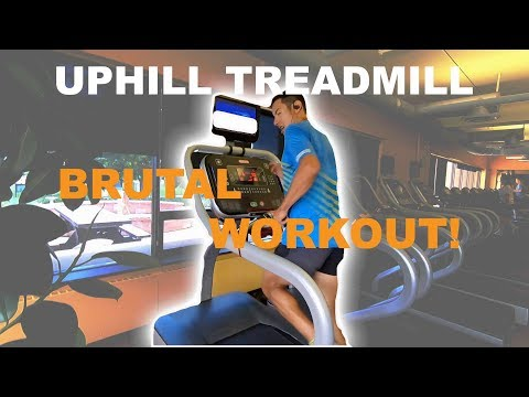 Hill Workouts around the Treadmill Using Incline