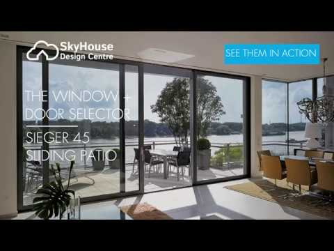 Sieger 45 Sliding Patio Door At The Sky House Design Centre Youtube