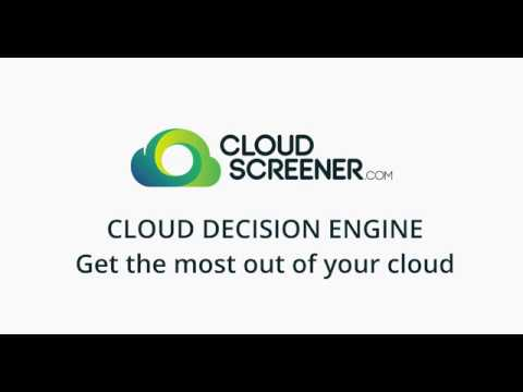 Cloud decision engine by CloudScreener