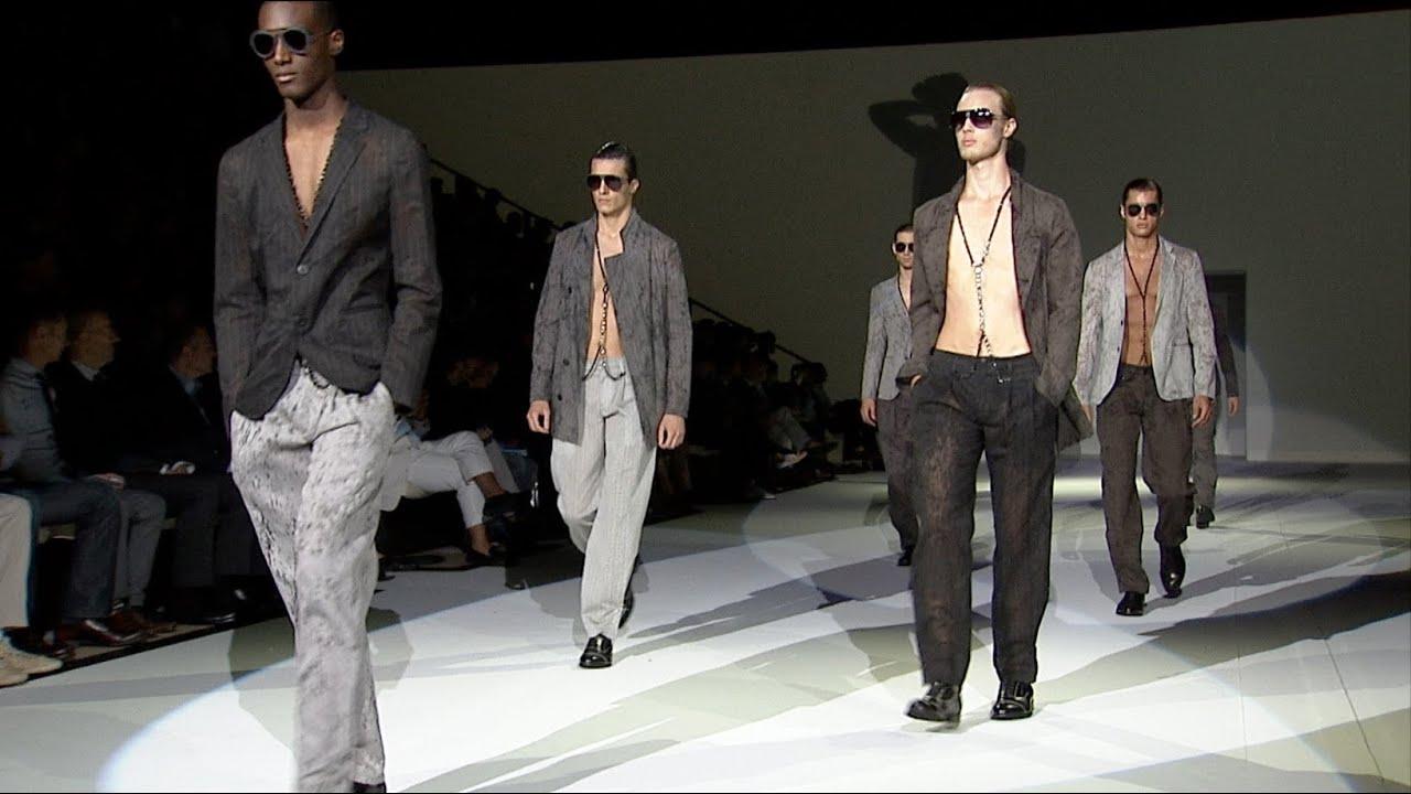 Emporio Armani - 2011 Spring Summer - Menswear Collection - YouTube 832e6b585496c