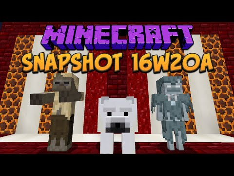 Minecraft 1.10 Snapshot 16w20a New Mobs, Husk, Stray & Polar Bear