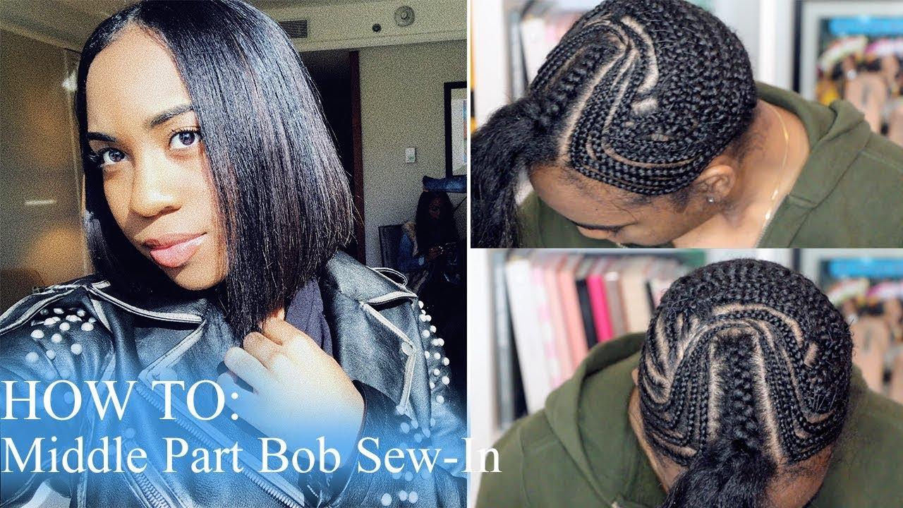 Bob Middle Part Braiding Patterns - Patterns Kid