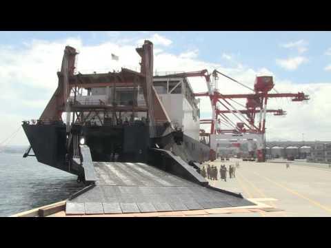 Balikatan 16 Time Lapse footage of the United States Naval Ship Maj. Stephen W. Pless