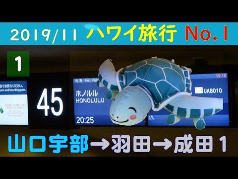[羽田サテライト到着] ハワイ旅行 No.1  山口宇部→羽田→成田第1 2019/11/9