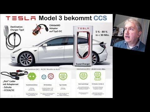 Tesla baut verbotenen CCS-Adapter, CCS im Model 3 und in den SuC's (NEWS  KW46/2018) | #ecannonball