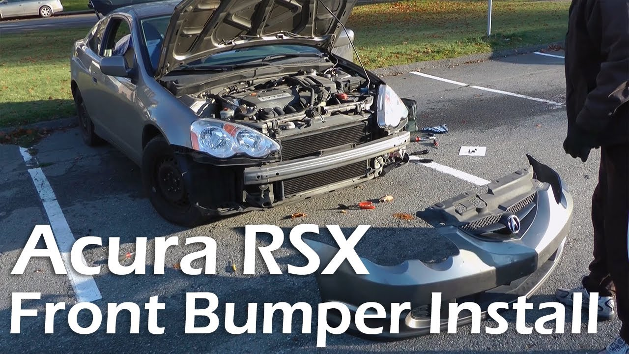 Acura RSX 2002 2006 Front Bumper Replacement