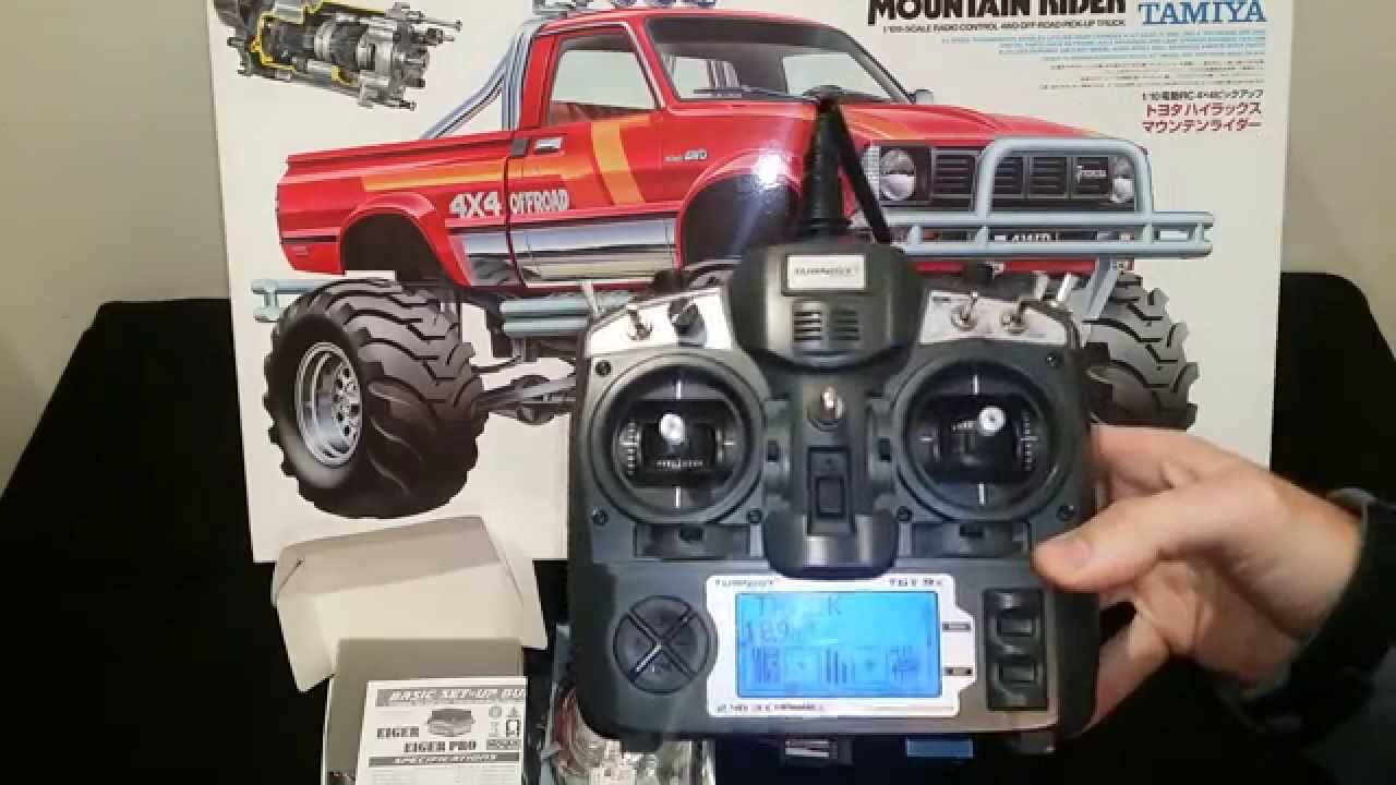 Tamiya toyota 4x4 pick up mountain rider electronics lights youtube