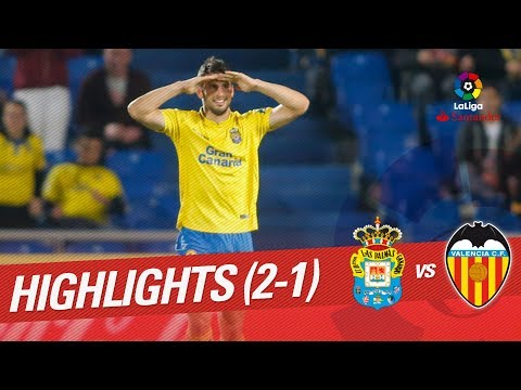 Resumen de UD Las Palmas vs Valencia CF (2-1)