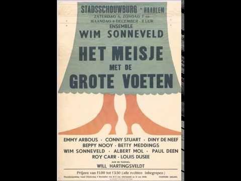 """Wim Sonneveld-cabaret (live) """"Het meisje met de grote voeten"""" (1), 1952."""