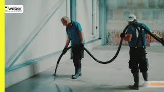weber.floor PumpTruck - Industrieboden