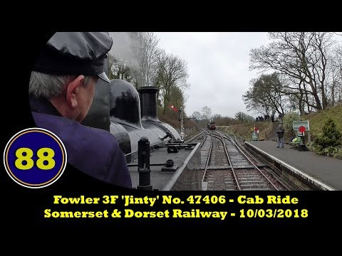 Footplate  - Fowler 3F 'Jinty' No. 47406 - Somerset & Dorset Railway - Midsomer Norton - 10/03/2018