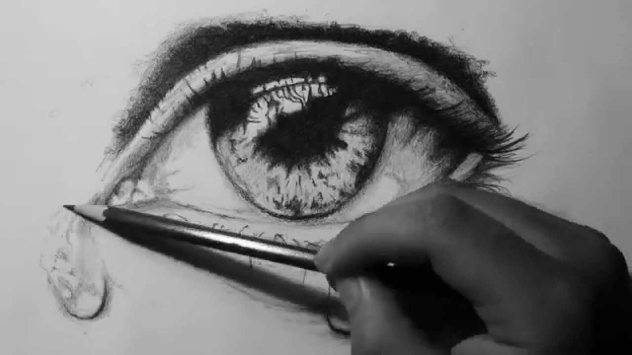 drawing a realistic eye with tears speed drawing youtube