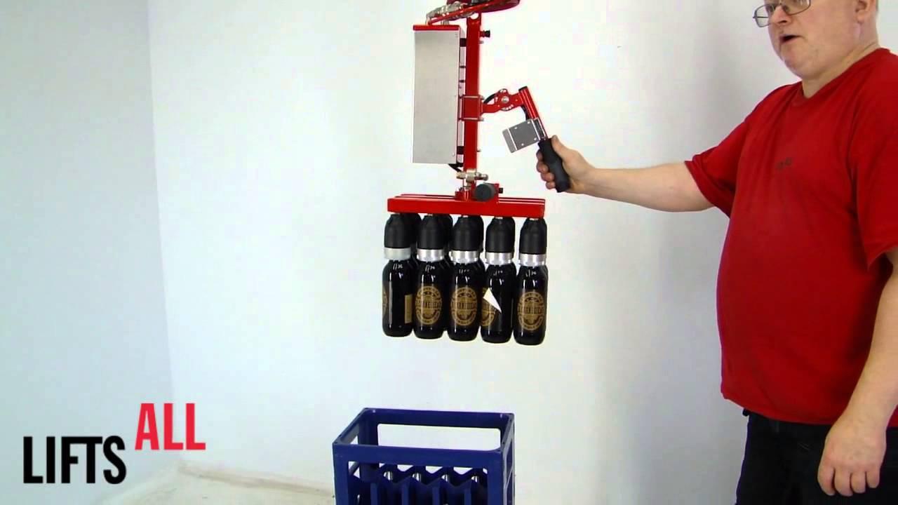 Elevador para manipular botellas