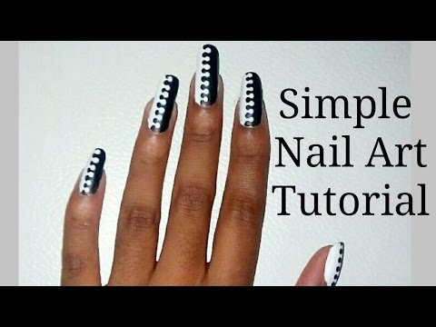Simple Black & White Nail Art Tutorial