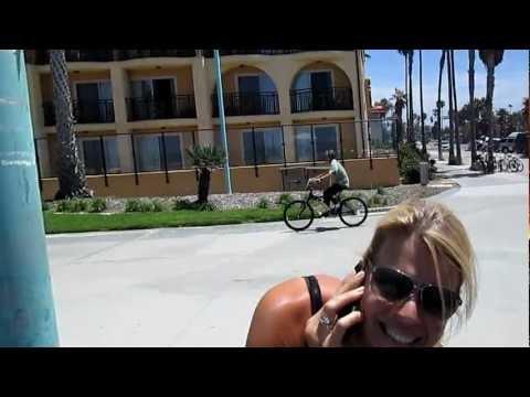 Walking on The Boardwalk In Pacific Beach CA