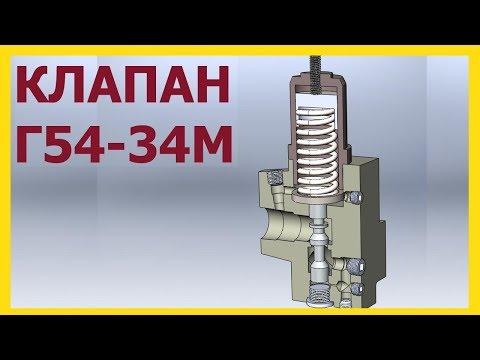 Гидроклапан Г54-34М  принцип работы.