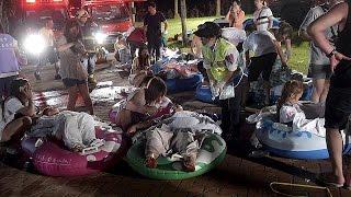 أكثر من 500 شخص أصيبوا بجروح في حريق داخل حديقة تسلية في تايوان   28-6-2015