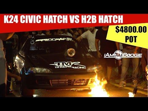 K24 Honda Civic Hatch Vs H2b Civic Eg Hatch