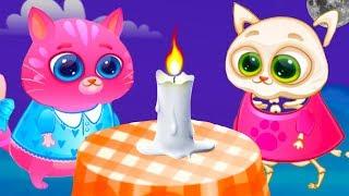 КОТЕНОК БУБУ Скелет - 2 серия #106 Кид и кот Bubbu в гостях у кошечки Кати. Видео игра на пурумчата
