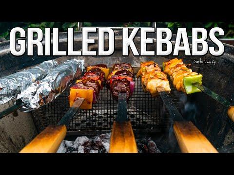 Juicy Grilled Chicken & Steak Kebabs | SAM THE COOKING GUY 4K
