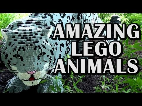 Life-Size LEGO Animals at the Indianapolis Zoo by Sean Kenney