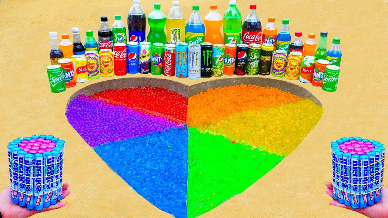Satisfying Video l How To Make Rainbow Heart Underground with Orbeez, Mentos vs Coca Cola, Sodas