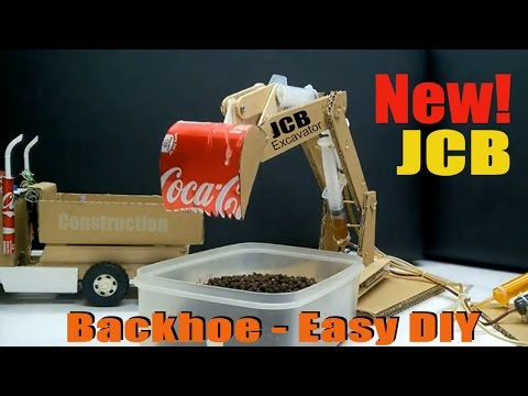How to make JCB at home - DIY JCB from syringe Operated Hydraulic