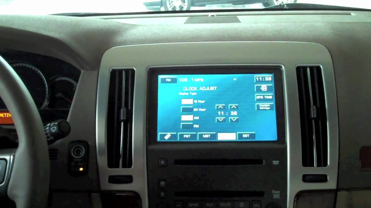 how to change the clock on your cadillac sts with navigation youtube rh youtube com 2005 Cadillac SRX 2005 Cadillac SRX
