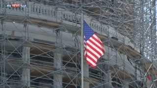 قبة الكونغرس تشهد أعمال صيانة
