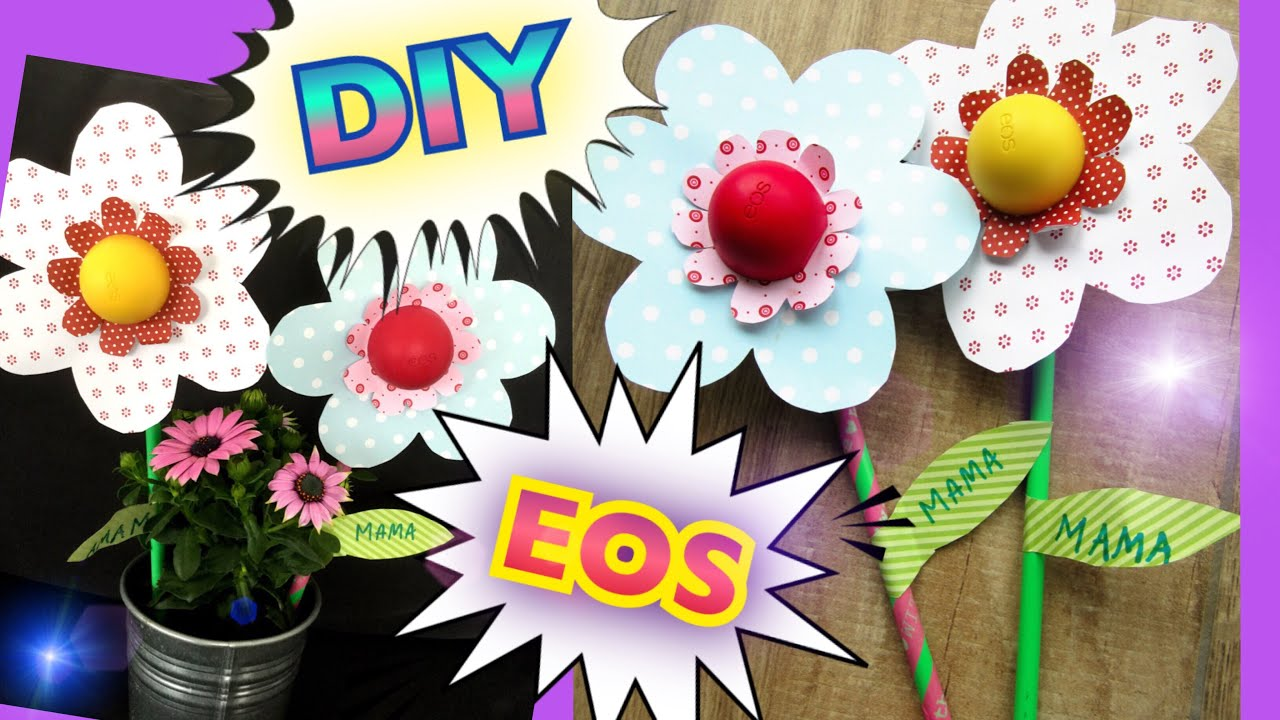 diy eos blume geschenk muttertag geschenkidee geburtstag selbstgemacht einfach schnell youtube. Black Bedroom Furniture Sets. Home Design Ideas