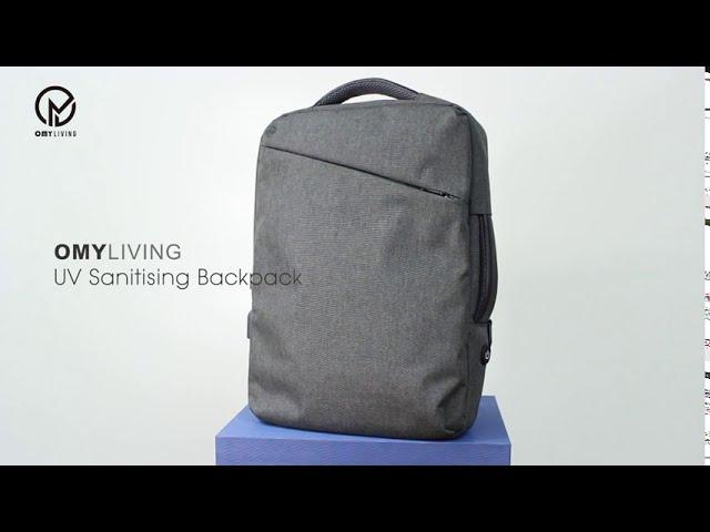 OMYLIVING UV Sanitising Backpack|Killing off Harmful Bacteria Anytime Anywhere