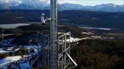 Pyramidenkogelturm mit Panoramakameras ausgestattet