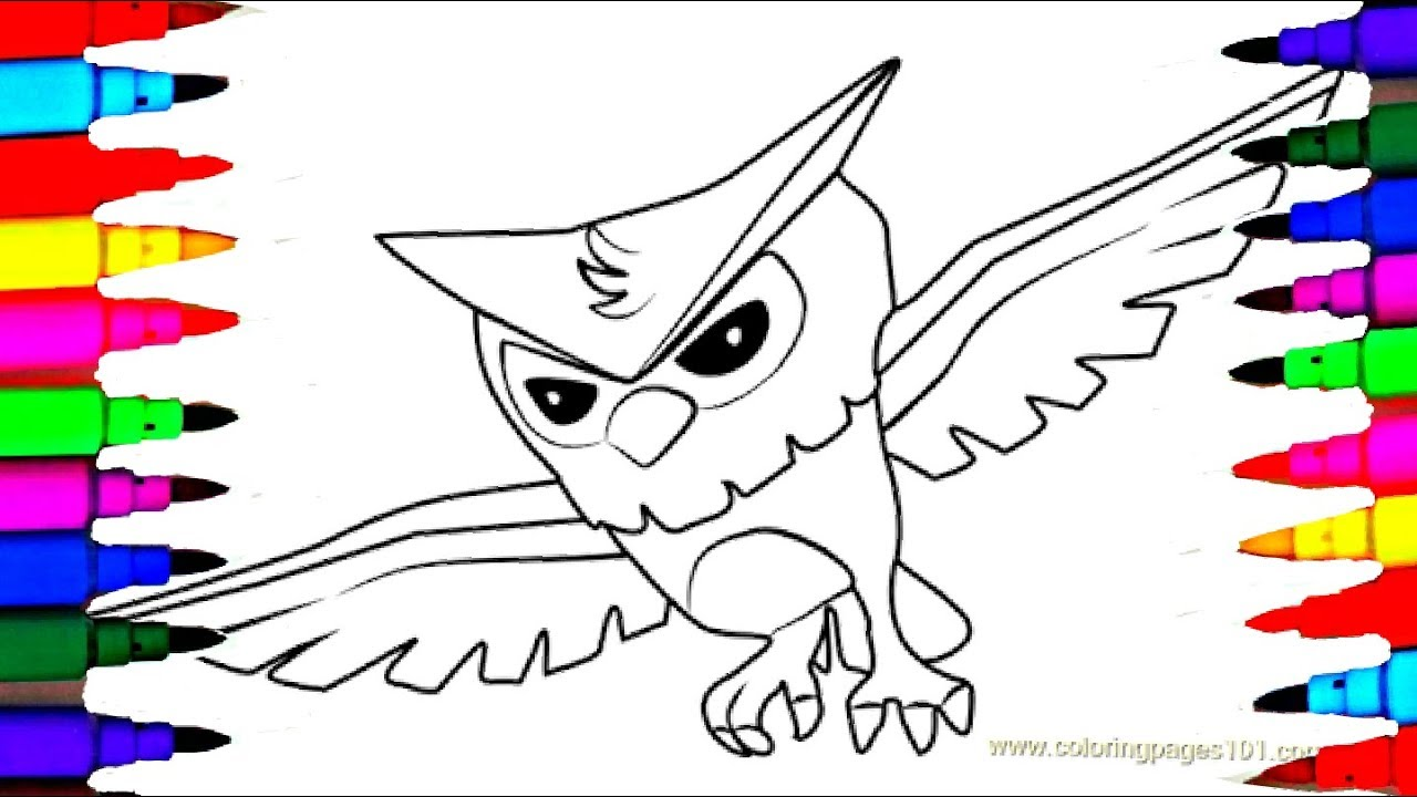 New how to draw owl animal jam coloring pages l kids drawing coloring to learn colors for kids