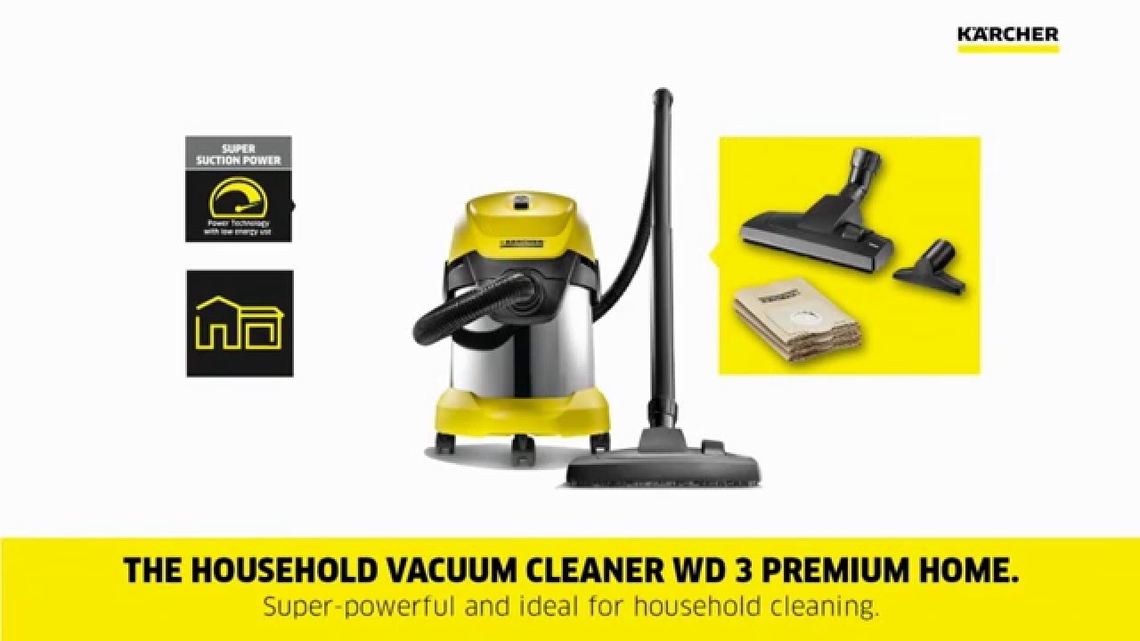 karcher wd 3 premium youtube. Black Bedroom Furniture Sets. Home Design Ideas