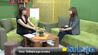 JOGA - Mediji o nama- JOGA SAVEZ SRBIJE - sert.instr. Branka Novakovic,  TV Kopernikus, maj 2010