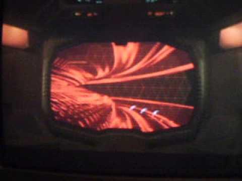 Klingon battleships arrive at the electrical space cloud (Star Trek 1 Scene).