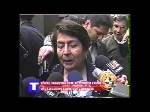 Nelly Calderón deslinde su responsabilidad al pedido del ministro Olivera