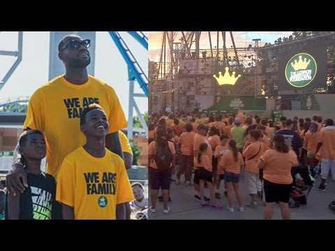 LeBron James Pays For 5,000 Families To Go To Amusement Park, Gives A Speech