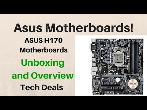 ASUS H170 Motherboard Unboxing and Overview - DDR3 or DDR4? - MicroATX or Full ATX?