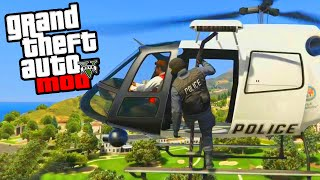 GTA 5 Police Mod - Playing As The Police In GTA 5 PC Mods! Police Chase Funny Moments! (GTA V PC)