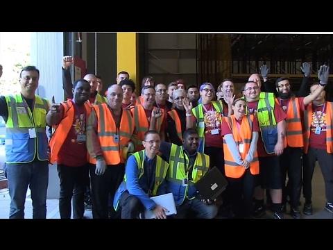 Manchester Amazon Fulfilment Centre Opens