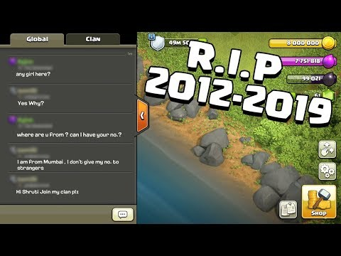 R.I.P Global Chat 2012-2019 | Clash Of Clans - COC