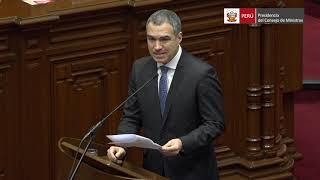 Palabra del Presidente del Consejo de Ministros, Salvador del Solar,  ante el Pleno del Congreso
