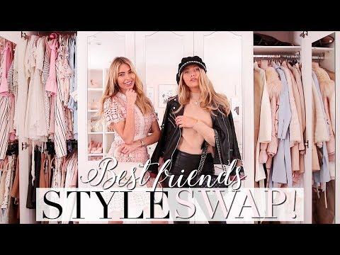 BEST FRIENDS STYLE SWAP! Opposite styles! ~ Freddy My Love
